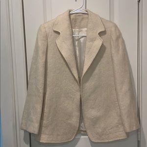 Vintage Jackets & Coats - EUC!! Vintage Cream Fuzzy Blazer size Small